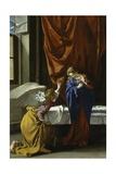 Annunciation, 1621-1623 Giclée-tryk af Orazio Gentileschi