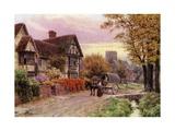 October Evening at Steventon, Berkshire Giclee-trykk av Alfred Robert Quinton