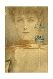 White Mask Giclee Print by Fernand Khnopff
