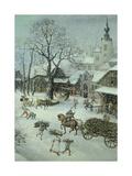 Winter Landscape Giclée-Druck von Lucas van Valkenborch