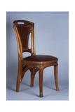Art Nouveau Style Chair, 1900 Giclée-Druck von Eugene Vallin