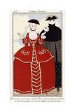 Parisian Clothing: Fancy Dress after Longhi, 1913 Reproduction procédé giclée par Georges Barbier