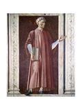 Dante Alighieri Giclée-tryk af Andrea Del Castagno