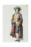 Lelio in 1726 Giclee Print by Maurice Sand