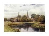 Lechlade Giclee-trykk av Alfred Robert Quinton