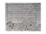 Score for Die Kunst Der Fuge Giclee Print