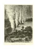 The Victoria Falls, Zambesi River Giclée-tryk