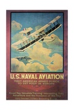 Ww1 Us Naval Aviation Recruiting Poster, 1918 Giclee Print