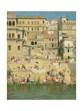 Benares, Blue Is the Sky Giclee Print by Mortimer Ludington Menpes