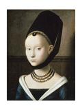 Portrait of Young Girl, 1470 Giclée-Druck von Petrus Christus