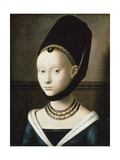 Portrait of Young Girl, 1470 ジクレープリント : ペトルス・クリストゥス