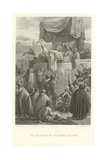 The Preaching of the Second Crusade Giclee Print by Alphonse Marie de Neuville