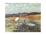Fields Near London Giclée-tryk af Giuseppe De Nittis