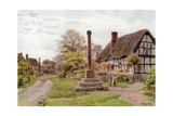 Village Cross, Ashton-Under-Hill, Gloucester Lámina giclée por Alfred Robert Quinton