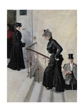 On the Steps Giclee Print by Peter Alexandrovich Nilus
