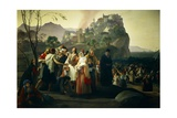Refugees of Parga, 1826-1831 Giclee Print by Francesco Hayez