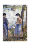 By the Water, 1881 Reproduction procédé giclée par Camille Pissarro
