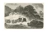 Un Tumulus a L'Epoque De La Pierre Polie Giclée-vedos tekijänä Emile Antoine Bayard