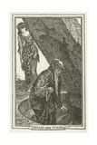 Merlin and Vivien Lámina giclée por Henry Justice Ford