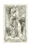 The Lady of Lyonesse Sees Sir Gareth Lámina giclée por Henry Justice Ford