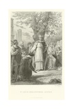 St Louis Administering Justice Giclee Print by Alphonse Marie de Neuville
