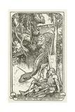 Arthur and the Questing-Beast Lámina giclée por Henry Justice Ford