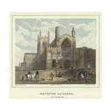 Rochester Cathedral, North Western View Reproduction procédé giclée par Hablot Knight Browne