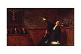 In Court Lámina giclée por Honore Daumier