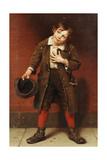 Beggar Boy, C.1885-1887 Gicléedruk van John George Brown