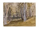 Trees on Box Hill Giclee Print by David Cox