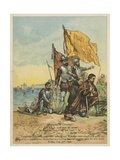 Columbus Arrives in the New World Giclée-Druck von Andrew Melrose
