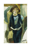 Hermin in Blue, 1916 Giclee Print by Jules Pascin