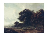 Entering Woods Lámina giclée por Meindert Hobbema