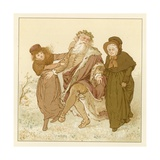 Depiction of the Month of December Giclee Print by Robert Dudley