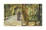 In Portici Forest Giclee Print by Giuseppe De Nittis