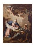 The Nativity, C.1730-40 Giclée-tryk af Giovanni Battista Pittoni