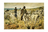 Maremma Herds, 1893 Lámina giclée por Giovanni Fattori