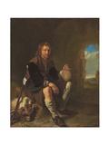 A Traveller at Rest Lámina giclée por Frans Van Mieris