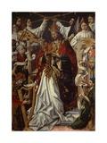 Coronation of Virgin Giclée-tryk af Fernando Gallego