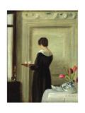 Afternoon Tea Giclee Print by Carl Holsoe