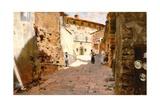 Street in Arezzo Giclée-Druck von Francesco Vinea