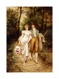 Courtship Giclee Print by Joseph Frederic Soulacroix