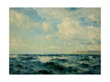 A Breezy Day Off the Isle of Wight, 1890 Giclée-tryk af Henry Moore