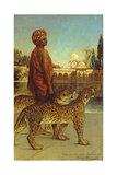 The Palace Guard with Two Leopards Giclee Print by Jean Joseph Benjamin Constant