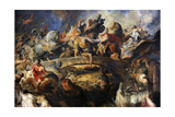 Battle of the Amazons, 1616-1618 Giclée-tryk af Peter Paul Rubens