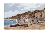 The Beach Looking W, Lyme Regis Giclee-trykk av Alfred Robert Quinton