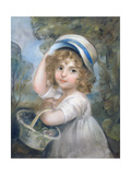 Girl with a Basket of Flowers Giclee Print by John Russell