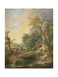 Landscape with a Hermit, 1742 Giclee Print by Francois Boucher