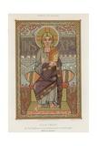 An 8th-Century Depiction of Jesus Christ Giclée-tryk
