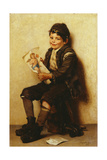 Paddy's Valentine, 1885 Gicléedruk van John George Brown